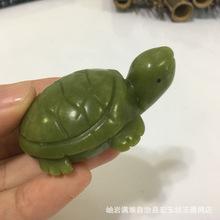正品岫玉长寿玉龟摆件 天然玉石手把件 风水摆件岫玉乌龟手玩件