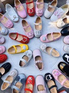 2019 girls leather shoes princess shoes spring and autumn soft-soled shoes Korean fashion all-match baby toddler shoes