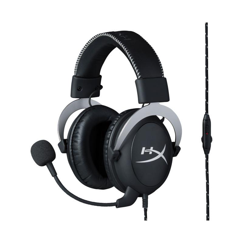 اصلي HyperX Cloud Silver King Kingston Storm Game Headphones Headset Eating Chicken Heads