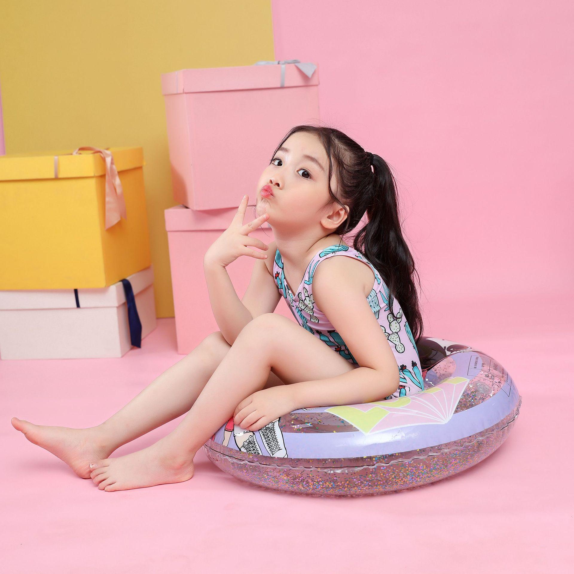 Environmentally friendly translucent thick pvc children's swimming ring NHWW140480