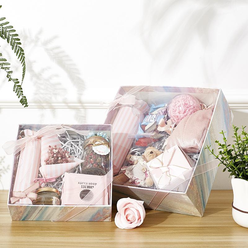 私人定制包装盒大号化妆品围巾礼品盒高档结婚伴手礼回礼糖果礼盒