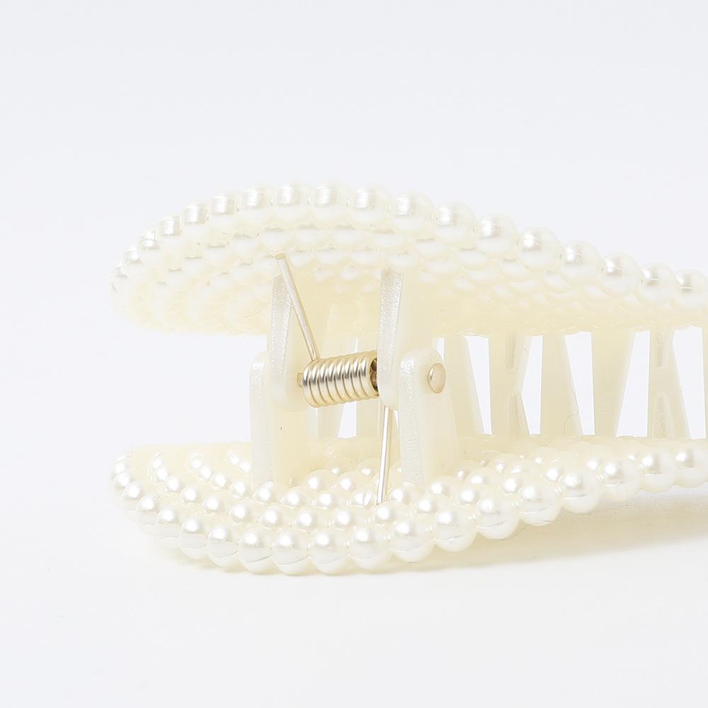 New Pearl Grab Clip Hair Clip Acrylic Simple Wild Top Clip Cheap Disk Hair Clip Wholesale NHDM206666