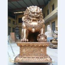 直销站像铜狮子批发价格 正品纯铜北京铜雕狮子 风水器材铜狮子