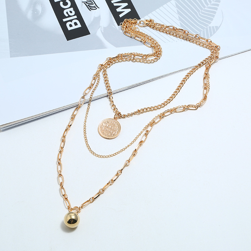 Womens  Fashion street shoot jewelry multi-layer tassel alloy Necklaces KQ190416117746