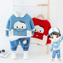 一件代发新款春装中小童儿童韩版套装春季童装卡通二件套潮2332