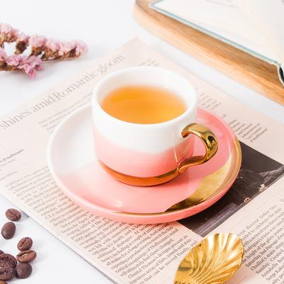 欧式咖啡杯碟套装礼盒定制陶瓷咖啡杯创意礼品办公室北欧陶瓷杯子