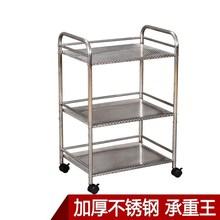 倉庫家用移動小推車置物架多功能鐵架子三層雜物架落地式手推
