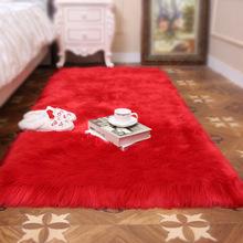 廠家直銷定制仿羊毛地毯地墊長毛絨沙發墊家用客廳臥室飄窗墊多色