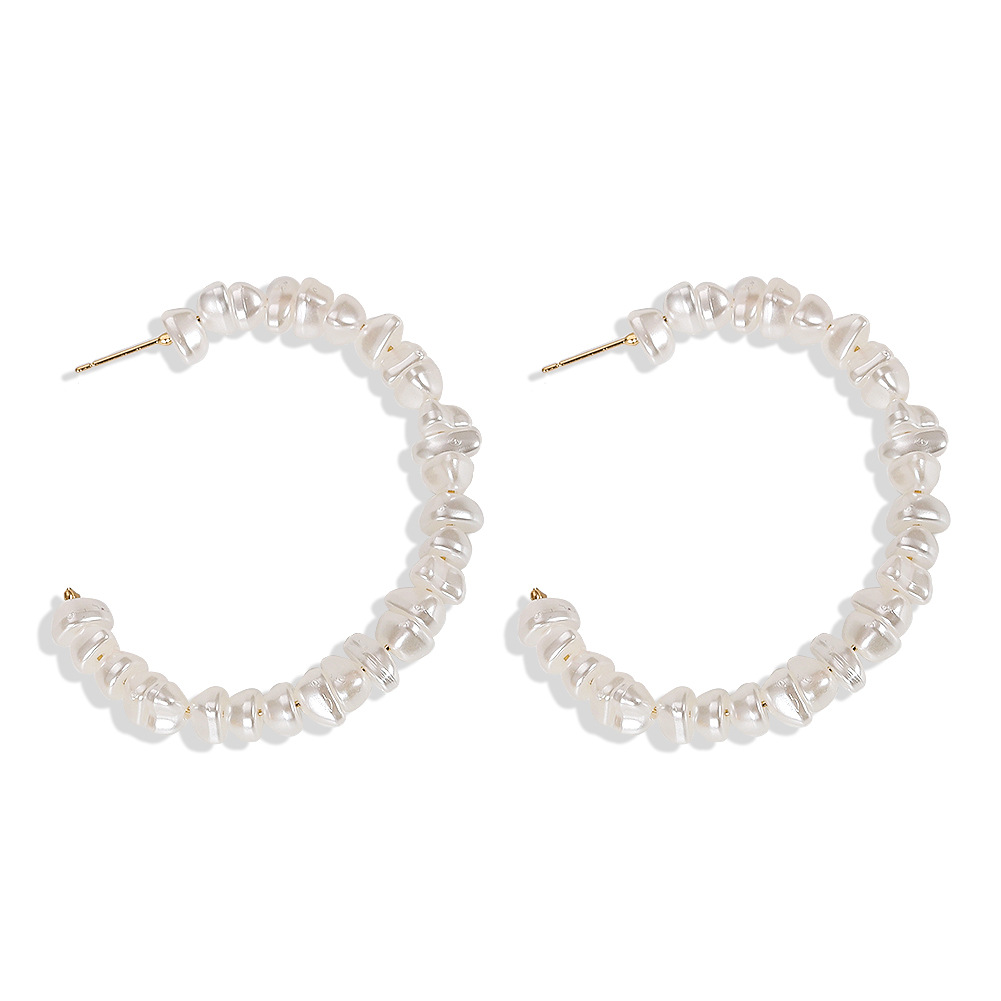 Womens Geometric Sweet and versatile meniscus irregular Beads Earrings NHJQ124088