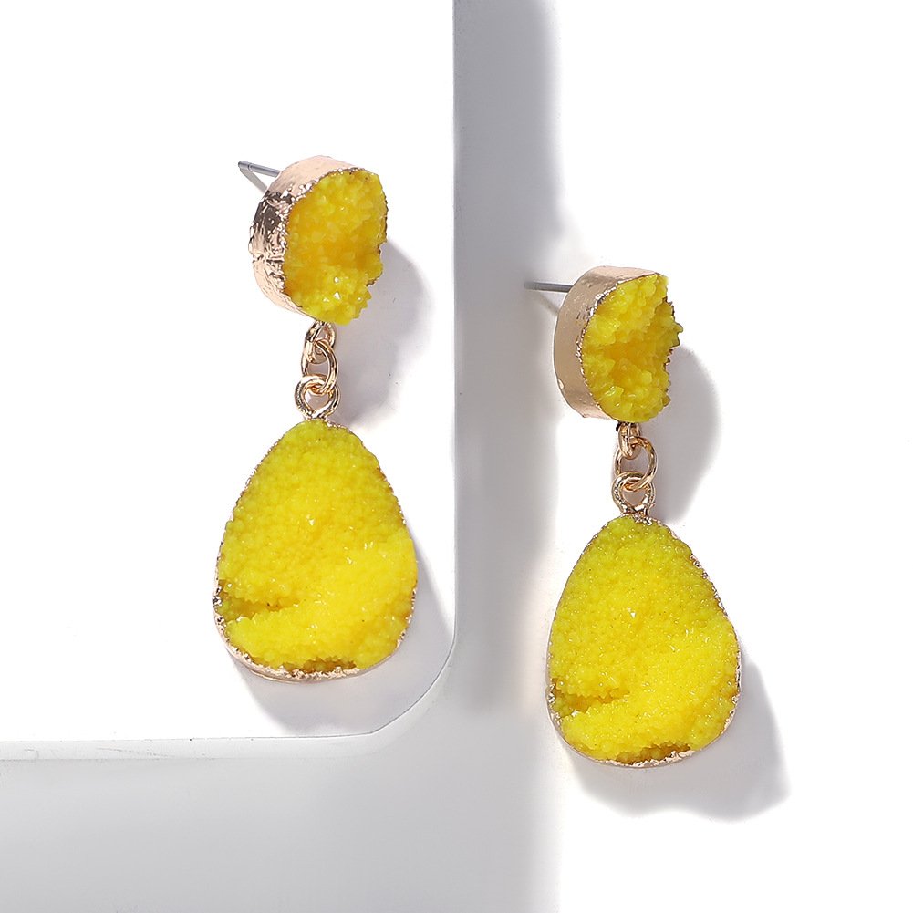 Candy color resin stitching earrings women fashion jewelry accessories earrings wholesale NHJQ196249