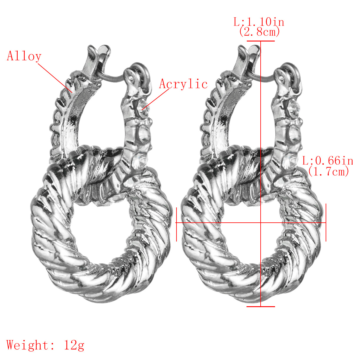 Stylish geometric multilayer ring hoop earrings NHJE149837
