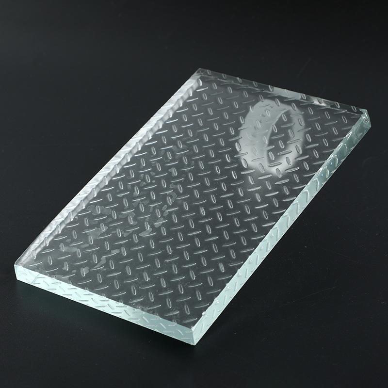 厂家热销耐高温3-12MM钢化防爆防滑地板透明玻璃LED防炫庭院灯饰