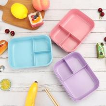 批发 新?#39277;?#21046;品耐热日式学生饭盒 分格便当盒可微波创意食堂餐盒