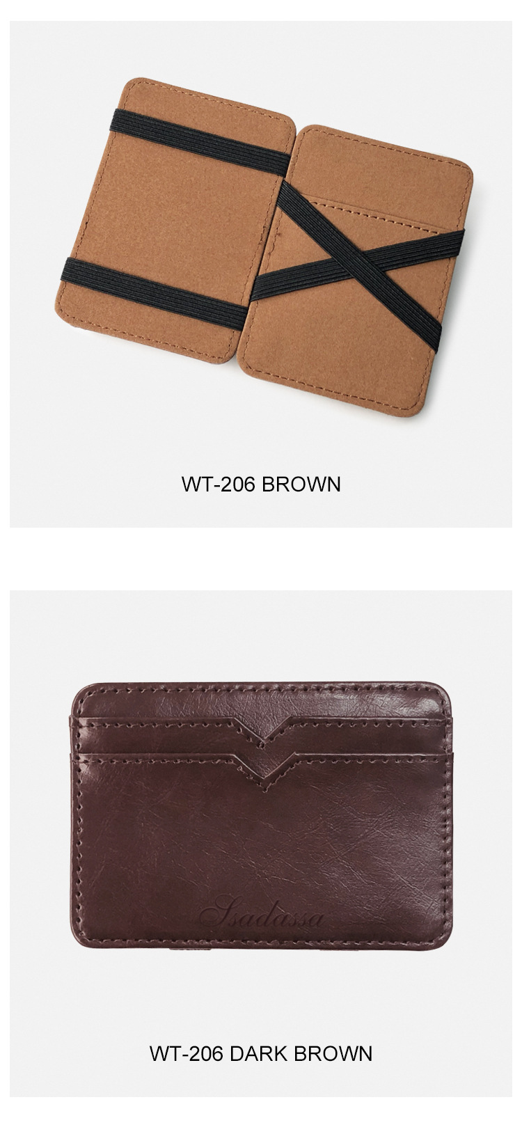 new Korean creative PU leather men's magic wallet business card coin purse wholesale nihaojewelry NHBN226161
