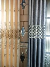 客廳豪華刺繡雪尼爾窗簾布料廠家直銷成品定制輕奢歐式落地窗柯橋