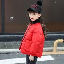 冬季兒童棉服女童加厚短款棉襖中小童純色寬松面包服內外穿韓版新