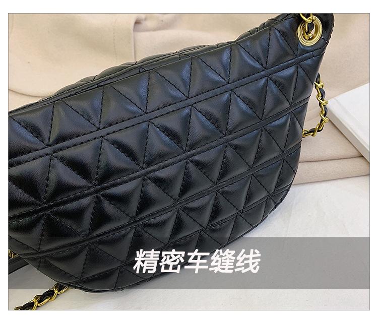 Fashion rhombic embroidery thread chain slung shoulder bag NHPB154174