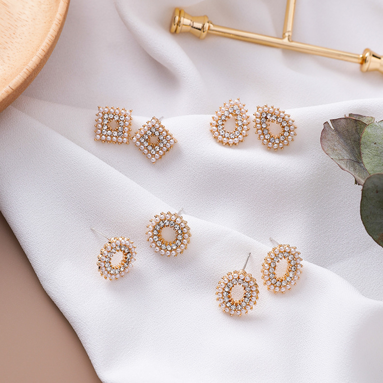 Alloy Korea Geometric earring  (A round section)  Fashion Jewelry NHMS2440-A-round-section