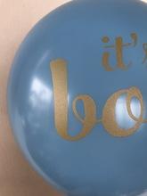 12寸爱心烫金乳胶气球 白色oh baby 浅蓝Boy男孩浅粉girl女孩气球