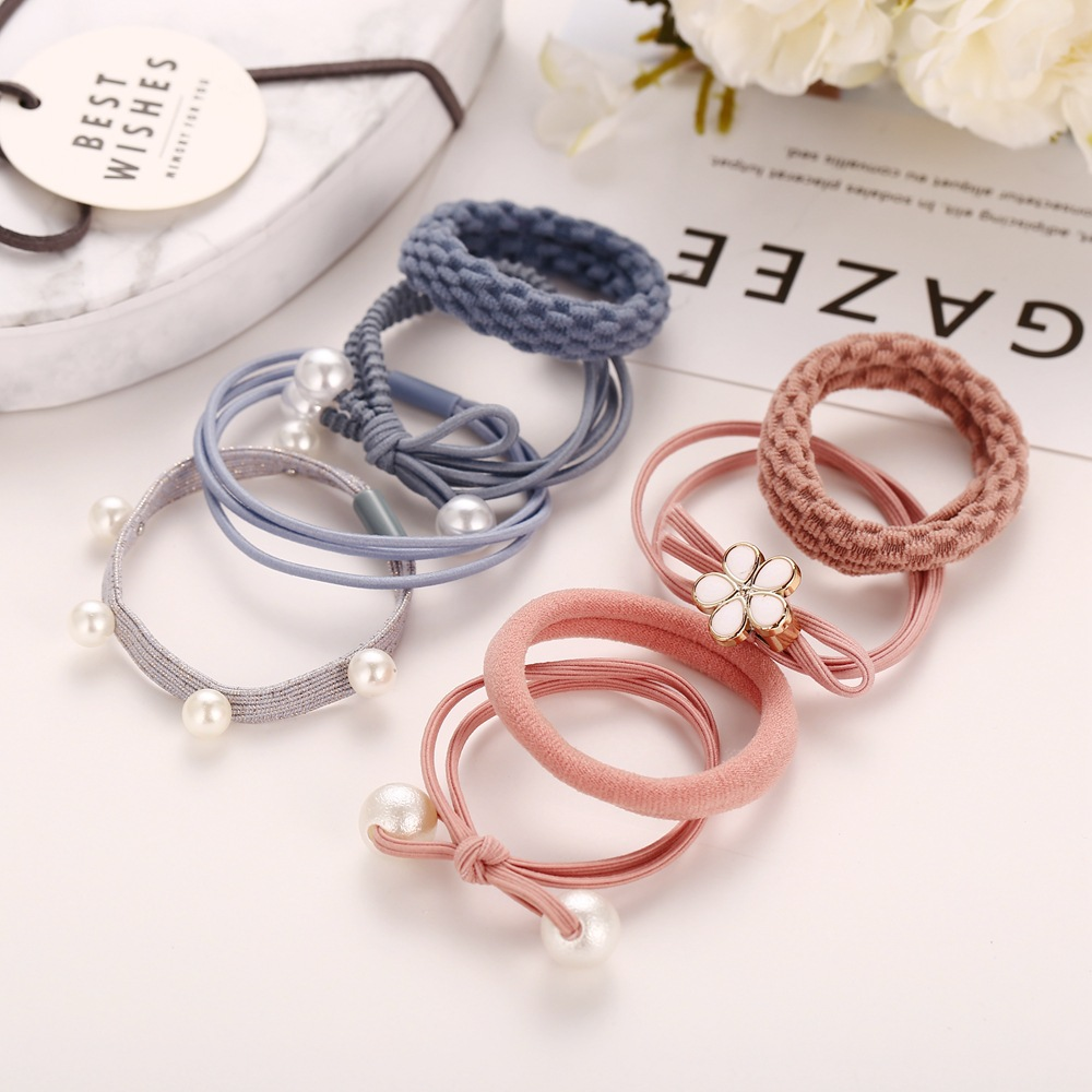 Head rope rubber band headwear small fresh leather case simple hair ring NHPJ175348
