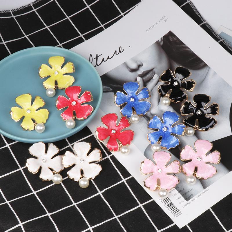 Fashion glaze flower beads jewelry earrings NHJJ142154