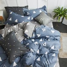2019新款純棉床上用品全棉斜紋田園植物小碎花卉床單式被套四件套