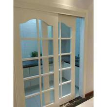 厂家直销深雕橡木推拉门 纯实木门卫生间橡木玻璃门办公室玻璃门