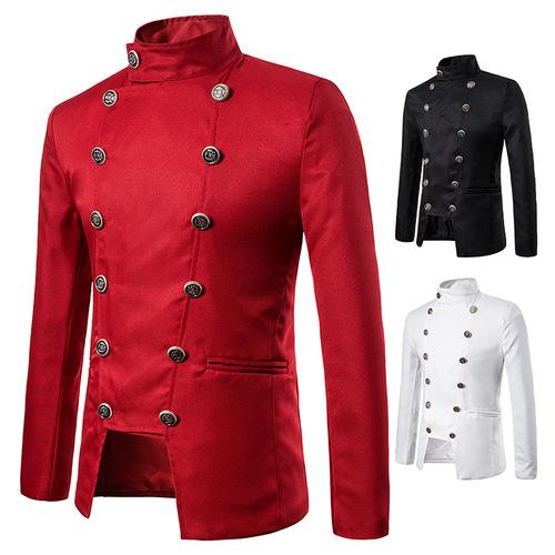 men's jazz performance suit blazers groomsmen jacket Men's jacket performance dress jacket nightclub male MC studio jacket
