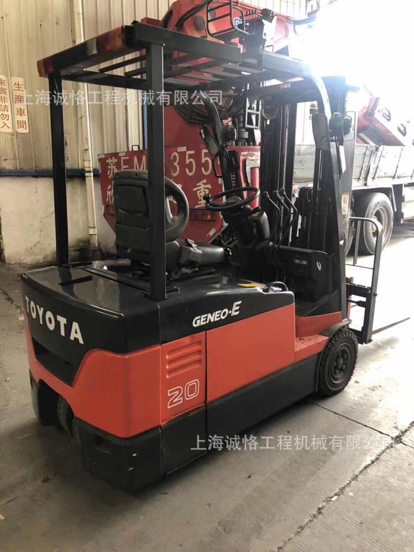 车间小型三轮电动叉车,进口二手1吨丰田全电动叉车品质保证