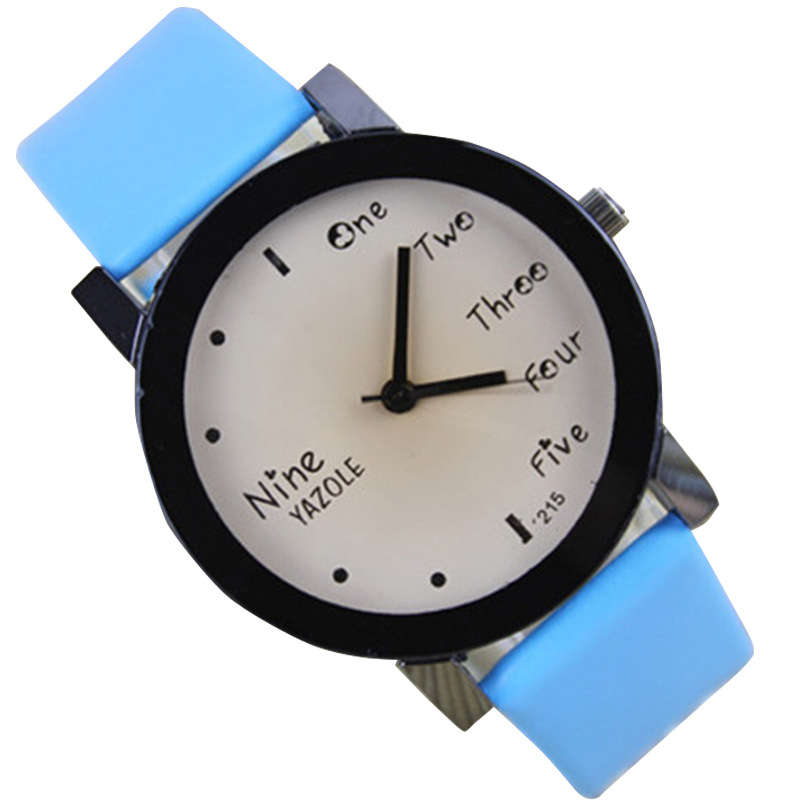 Hong C 215 Korean Fashion Popular Hot New Watches Female High School Students Couple Watches Children Cute