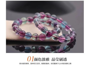 Natural South Africa Colorful Symphony Fluorite Fluorite Fluorite Fluorescent Jade Fluorite Camp Jade Fluorescent Jade Candy Color Bracelet Bracelet