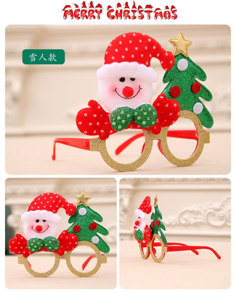 Nuevas cornamentas de dibujos animados anciano Navidad niños gafas decoración NHMV155589