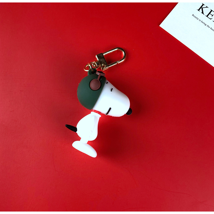 Korean  fashion cartoon Snoopy Charlie keychain puppy pilot doll airpods pendant  wholesale NHJP216331