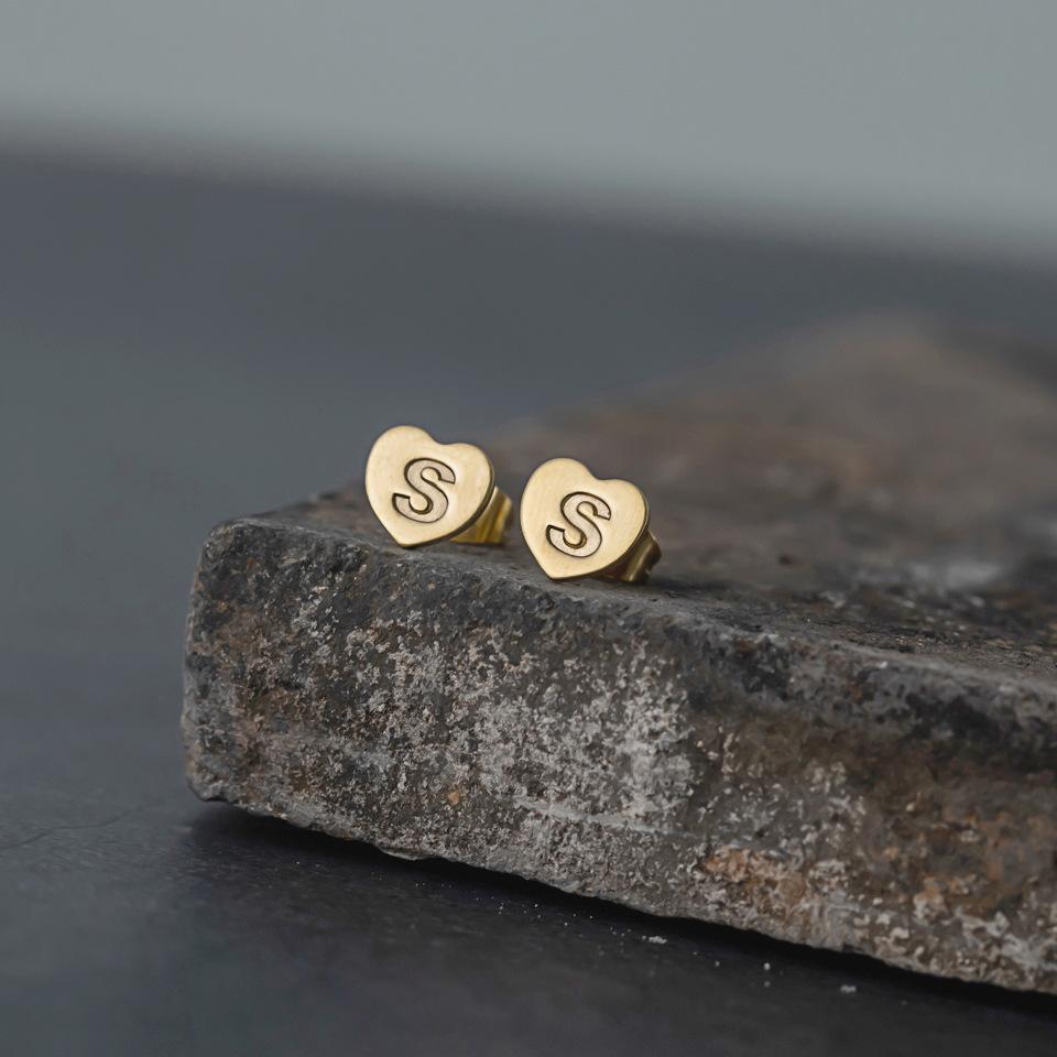 new English 26 letters earrings NHAKJ329966