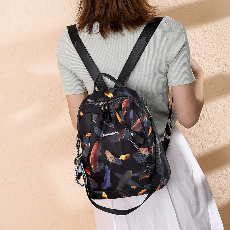 新款双肩包女韩版休闲时尚女士单肩斜跨旅行背包户外运动百搭潮包