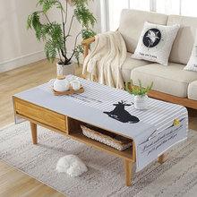 北欧韩式茶几桌布卡通棉麻盖布长方形桌布客厅电视柜茶几盖巾通用