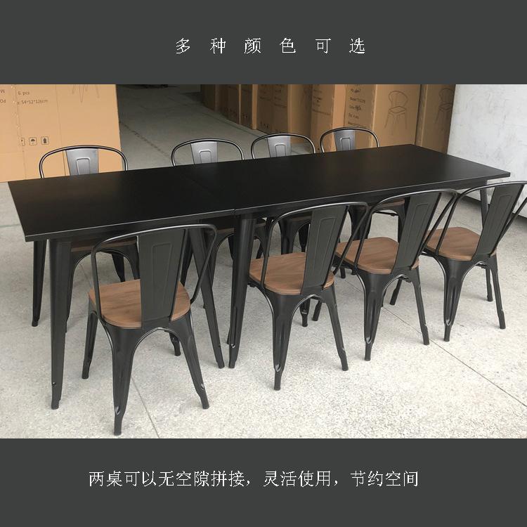 铁艺工业风桌子圆方餐桌简约铁桌北欧桌椅书桌工作台多彩颜色定制