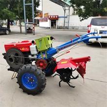 巴彦淖尔高效12马力手扶车拖拉机 大棚旋耕机 手扶式开沟机