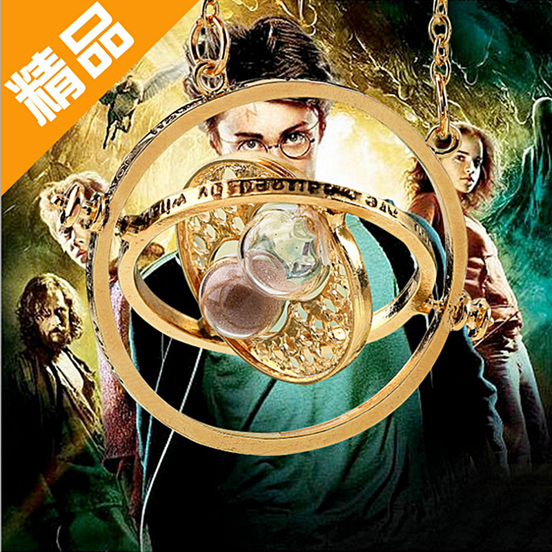 Cross-border hot selling jewelry in Europe and America Harry Potter Time Time Converter Hourglass Necklace AliExpress Hot Sale