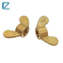 CZ五金 黃銅蝶形螺母M4M5M6M8M10M12元寶螺母翼型螺絲帽手擰螺帽