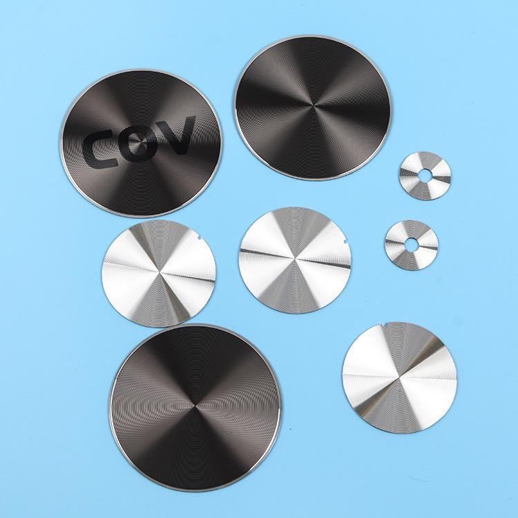 廠家直銷 金屬銘牌  CD紋裝飾片 氧化鋁卡片 提供logo定制
