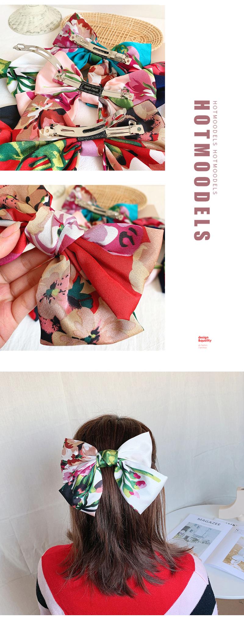 Big bow hair rope tocado pinza de pelo roja clip de primavera clip superior pinza de pelo accesorios para el cabello al por mayor NHOF196019