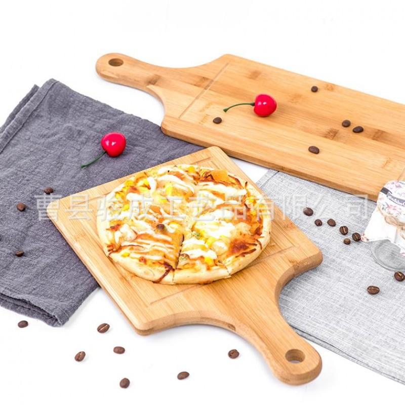 竹制披萨板 木制菜板西餐盘 实木菜板竹木披萨盘砧板定制LOGO