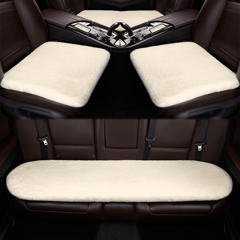 新款兔绒半包汽车座垫冬季通用座垫朗逸君威福瑞斯H2H6兔绒车座垫