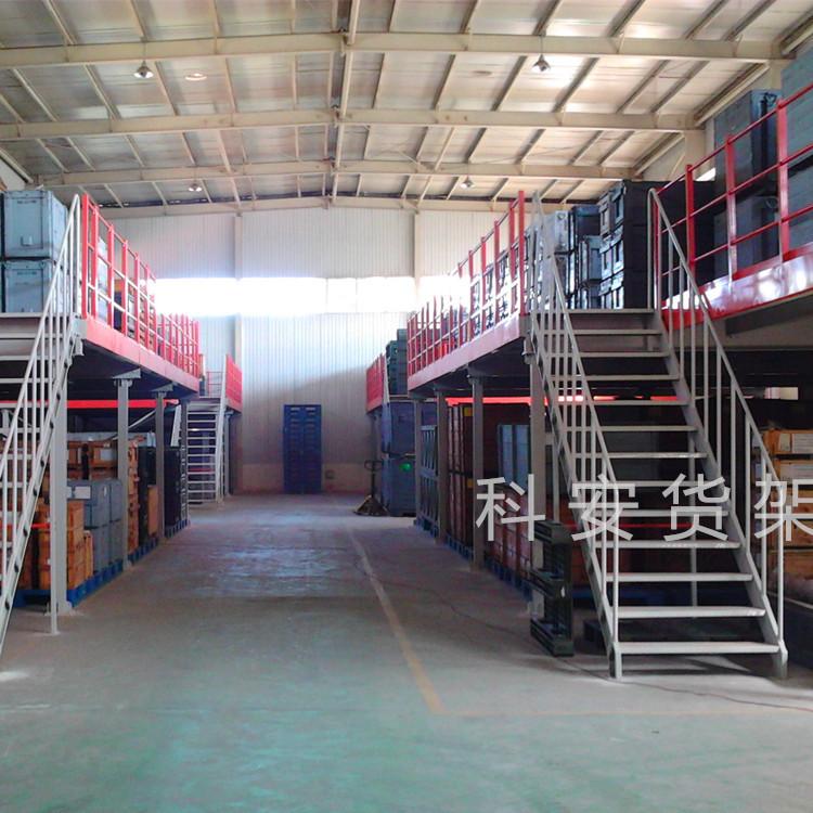 钢平台货架 二层三层均可 承载大外形美观