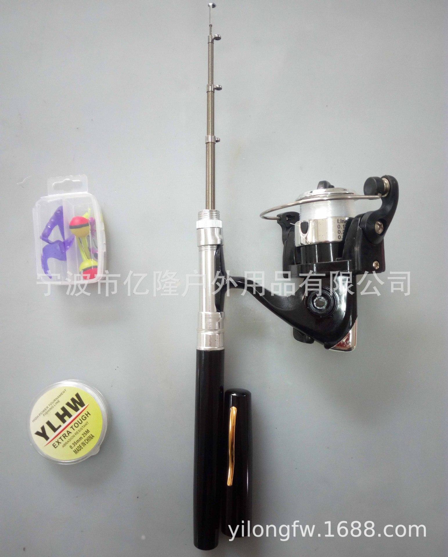 工厂直销纺车式钢笔鱼竿套装 迷你渔杆sets of  pen fishing rod