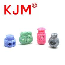 斑点绳扣 蘑菇绳扣 迷彩塑料弹簧扣 服装索绳扣 彩纹定做打样板