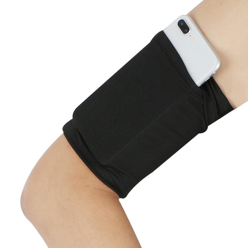 戶外健身手機臂包運動彈力臂帶跑步手機袋騎行臂套透氣胳膊包手包