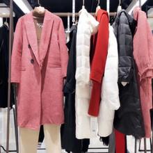 哈祥喜19冬裝品牌折扣女裝走份批發 羽絨服 雙面呢杭州四季青女裝