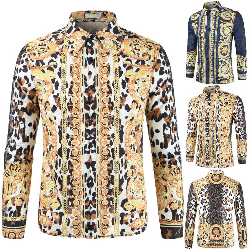 2020 foreign trade new cross border summer national style leisure 3D printed shirt short sleeve men's Short Sleeve Shirt